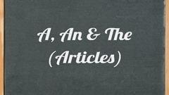 Артикли в английском: Видеоуроки